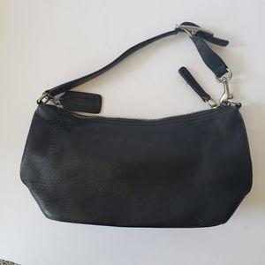 Coach Demi Black Leather Mini Shoulder Bag VTG